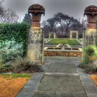 Garden gate in Dallas, Texas