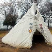 Tee-Pee in Garden in Dallas, Texas