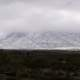 Snow on Franklin Mountains landscape near El Paso, Texas