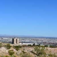 View of the landscape of El Paso and the Desert in Texas