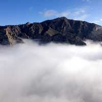 Clouds and Fog at Hunter's peak in Guadalupe Mountains National Park