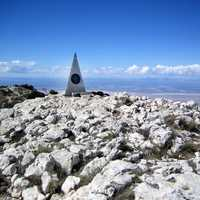Guadalupe Peak Monument on the Rocks