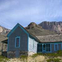 House below the mountain in Guadalupe Mountains National Park