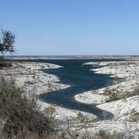 Amistad National Recreation Area landscape in Texas