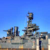 Side of Battleship Texas