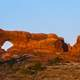 Panoramic of Arches National Park with Supermoon