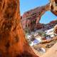 Snow and arches in Utah