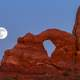 Supermoon over arches national park