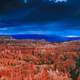 Grand landscape under the sky in Bryce Canyon National Park, Utah