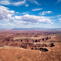 Landscapes of the big Canyon under the sky and clouds