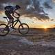 Mountain Biking at Sunset at McCoy Flats