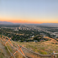 Dusk over Salt Lake City