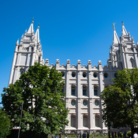 Large Mormon Temple, front view