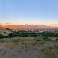 Looking at Salt Lake City From the Mountain