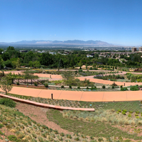 Panoramic View of Salt Lake City from Gardens