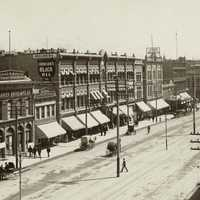 Part of main street 1890 in Salt Lake City, Utah