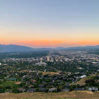 Salt Lake City from the Hill at Dusk