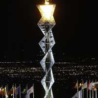 Torch of the Winter Olympic Games in Salt Lake City, Utah