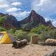 Camping in Zion National Park, Utah