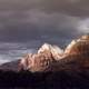 Dark Rain Clouds over Zion National Park, Utah
