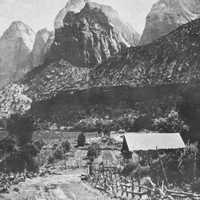 Ranch at the mouth of Zion Canyon, Utah