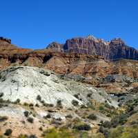 Rock formations and landscape of Zion National Park, Utah