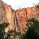 Sinawava waterfall in Zion National Park, Utah