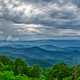 Fork Mountian Overlook landscape with clouds