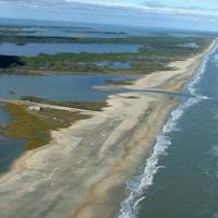 Landscape of Chincoteague National Wildlife Refuge in Virgina