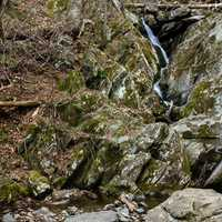 Far away lower falls at Shenandoah National Park