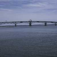 Bridge across the York River in Yorktown, Virginia