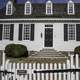 Colonial House with white fence in Yorktown, Virginia