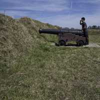 Me Sieging the British Positions at Yorktown, Virginia