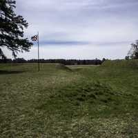 Trenches and Earthen Works at the British Position at Yorktown, Virginia