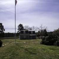 Yorktown Cemetery building at the 2nd siege line in Virginia