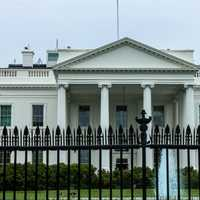 Gated White House in Washington DC