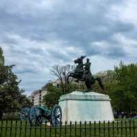 Horse and Rider Statue near the White House