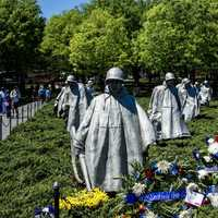 Korean War Memorial battle formation