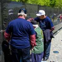 Veterans remembering fallen friends at the Vietnam memorial