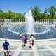 World War II Memorial Fountains in Washington DC
