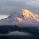 Scenic view of peak of Mount Rainier, Washington