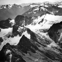 Neve Glacier in 1970 in Northern Cascades National Park, Washington