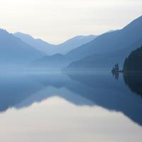 Scenic Lake Crescent at Olympic National Park