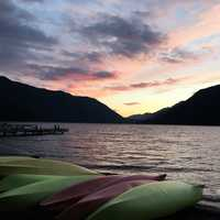 Sunset over Lake Crescent