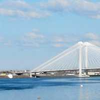 Cable Bridge spanning the Columbia River in Kennewick, Washington