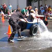 Camas Days bathtub races in Camas, Washington