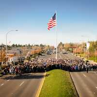 Dedication of Downtown Flag and Veterans Way in Federal Way, Washington