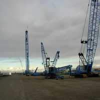 Lampson Crane Yard in the Port of Big Pasco, Washington