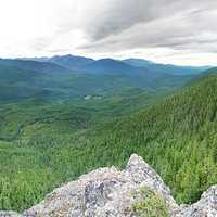Panoramic of Mount Zion in Olympic National Forest
