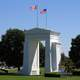 Peace Arch Monument on the US Canada Border in Blaine, Washington